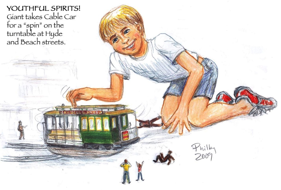 Spinning the cable car